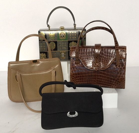 Group Lot Vintage Designer Hand Bags