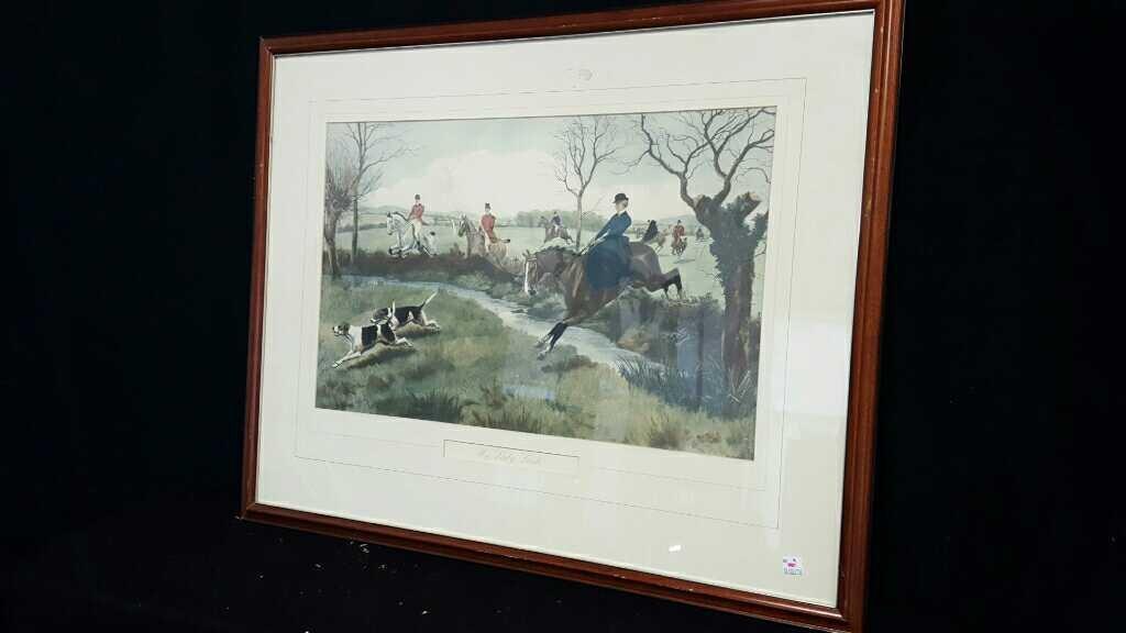Three Vintage Framed Hunting Prints - 10