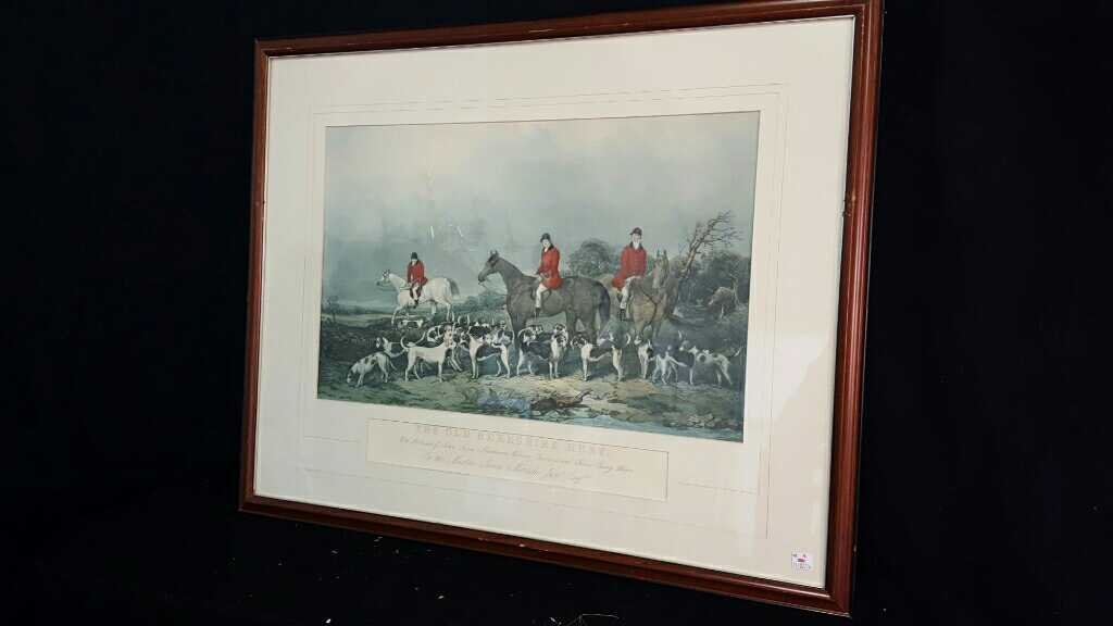 Three Vintage Framed Hunting Prints - 2