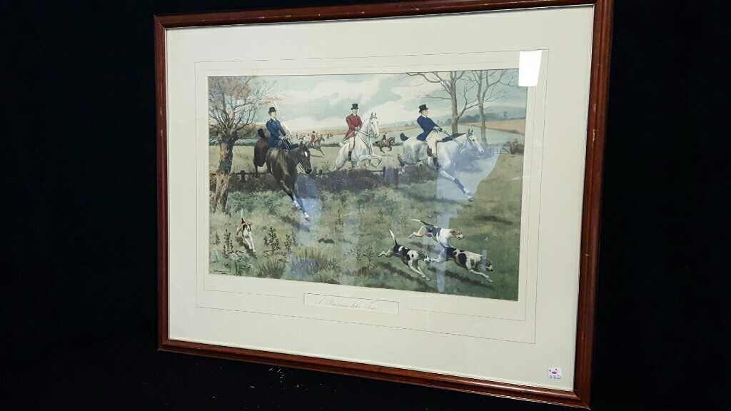 Three Vintage Framed Hunting Prints - 6