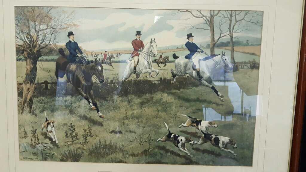Three Vintage Framed Hunting Prints - 7