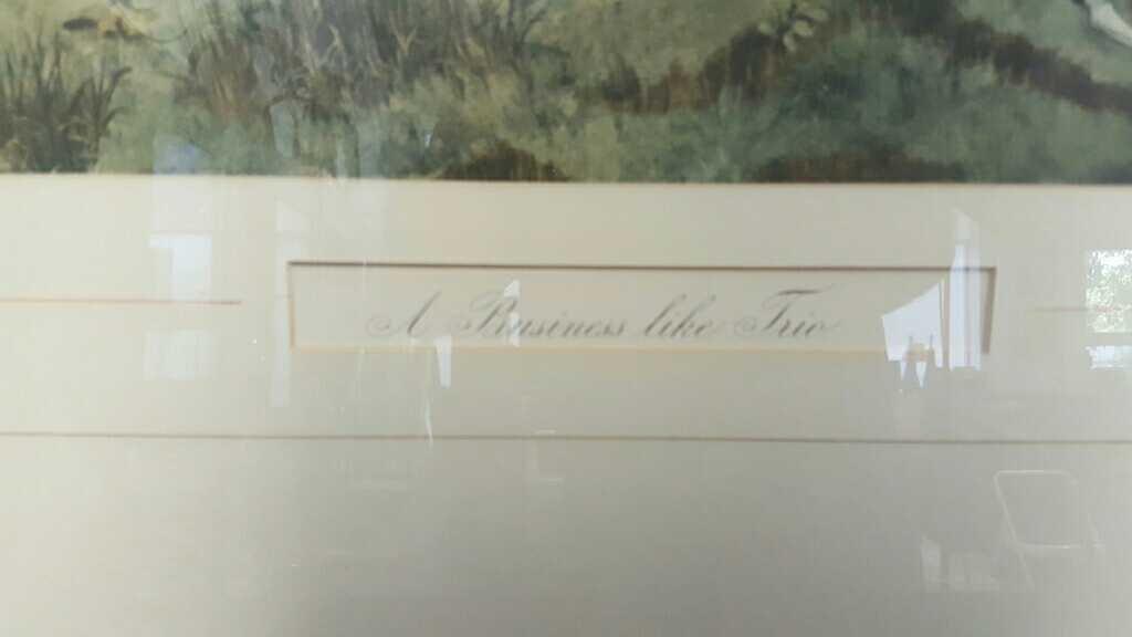 Three Vintage Framed Hunting Prints - 8