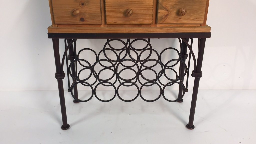 Country Kitchen Style Wine Rack - 4
