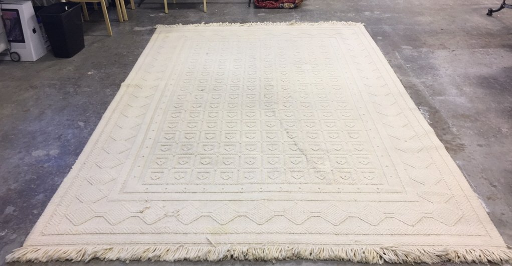 Vintage Woven Neutral Jumbo Stitch Carpet