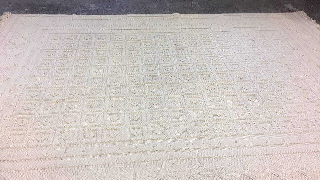 Vintage Woven Neutral Jumbo Stitch Carpet - 2