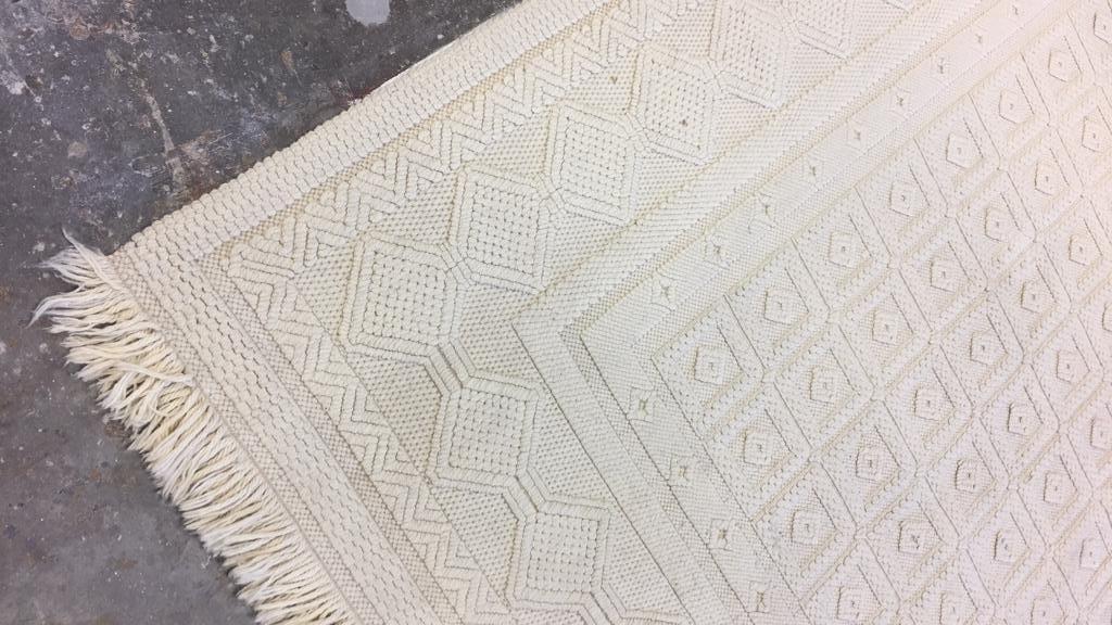 Vintage Woven Neutral Jumbo Stitch Carpet - 3