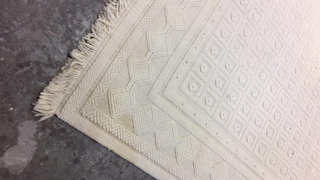 Vintage Woven Neutral Jumbo Stitch Carpet - 4