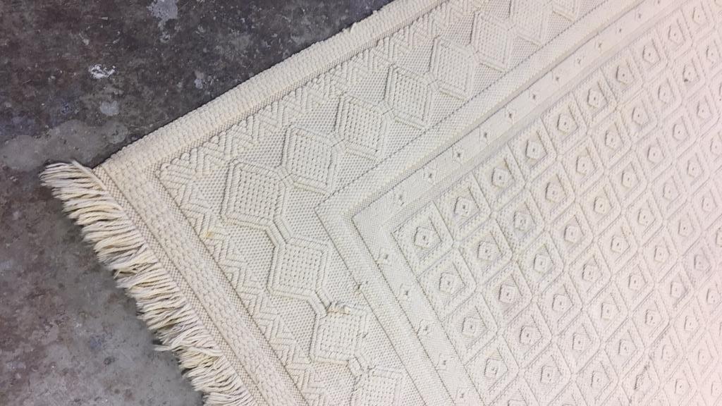 Vintage Woven Neutral Jumbo Stitch Carpet - 5