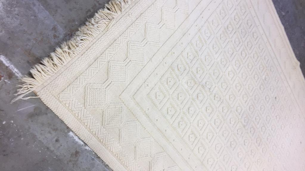 Vintage Woven Neutral Jumbo Stitch Carpet - 6