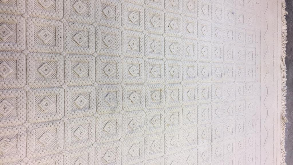 Vintage Woven Neutral Jumbo Stitch Carpet - 7
