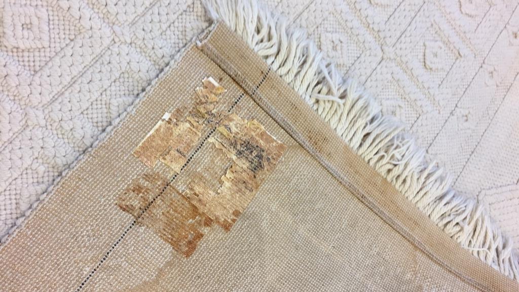 Vintage Woven Neutral Jumbo Stitch Carpet - 9