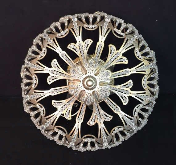 Vintage Crystal Beaded Surface Mounted Fixture