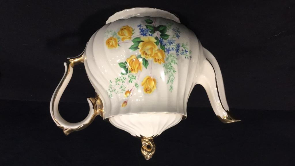 Group lot porcelain teapots pitcher vase signed - 5