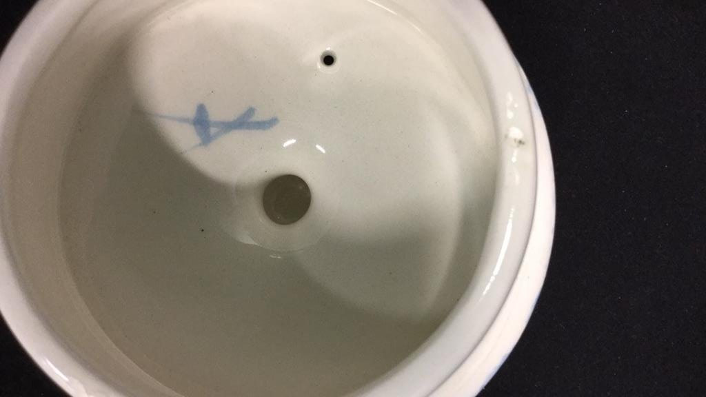 Group lot porcelain teapots pitcher vase signed - 9