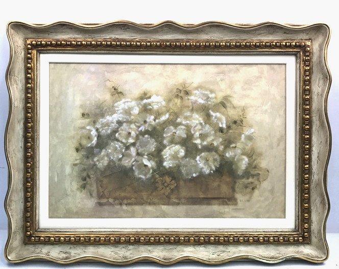 BLUM Signed White Floral Bouquet