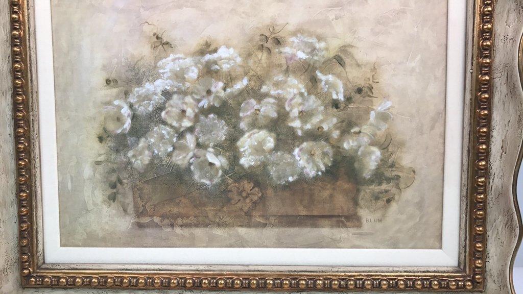 BLUM Signed White Floral Bouquet - 2