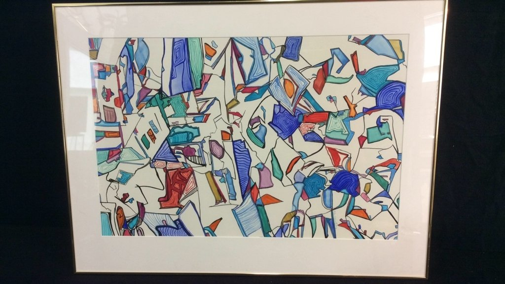 Lita Schwartzberg Signed Abstract Graphic - 2