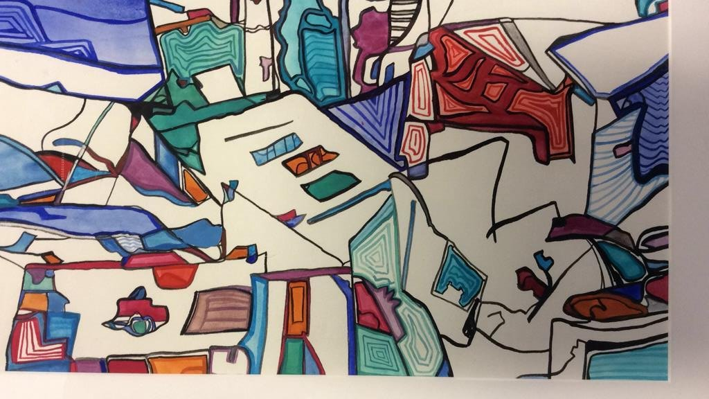 Lita Schwartzberg Signed Abstract Graphic - 4