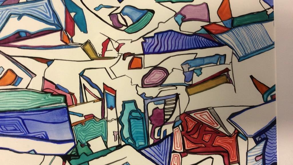 Lita Schwartzberg Signed Abstract Graphic - 5