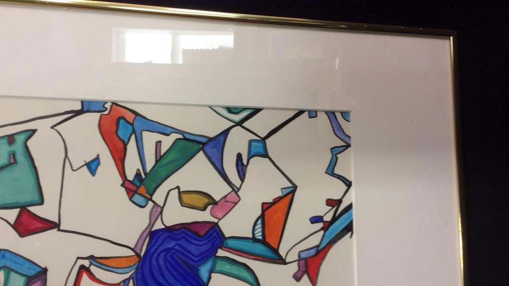 Lita Schwartzberg Signed Abstract Graphic - 7