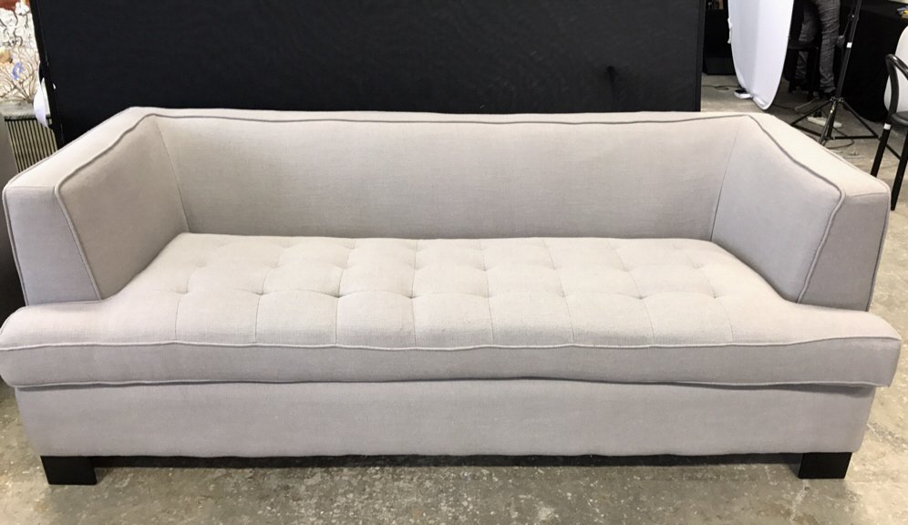 Contemporary Style Tufted Seat Sofa