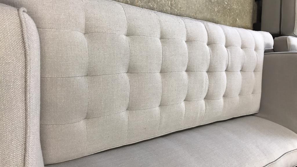 Contemporary Style Tufted Seat Sofa - 5