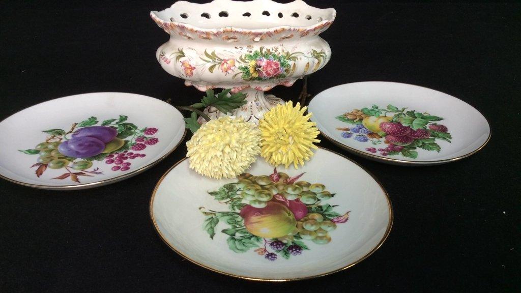 Vintage Porcelain Lot Hand Painted