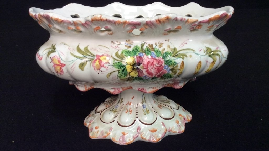 Vintage Porcelain Lot Hand Painted - 8