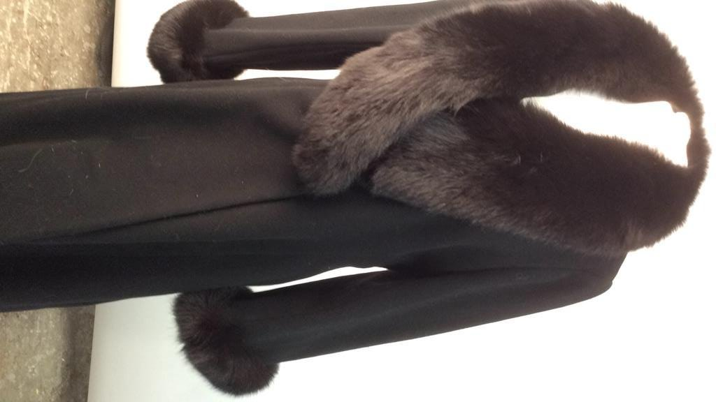 Ellie Tahari black Wool and Fox coat - 2