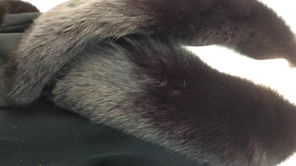 Ellie Tahari black Wool and Fox coat - 3