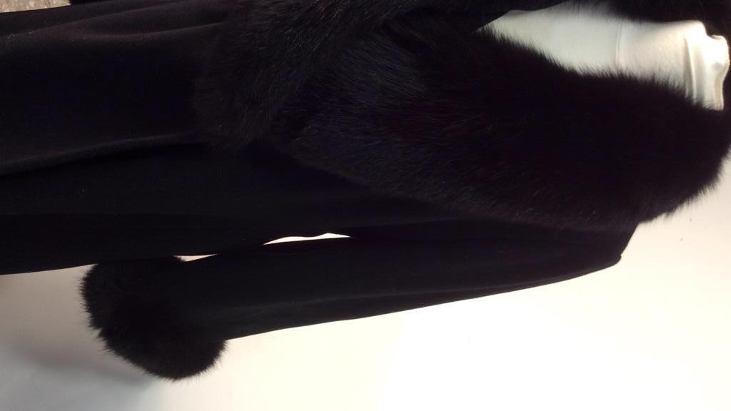 Ellie Tahari black Wool and Fox coat - 8