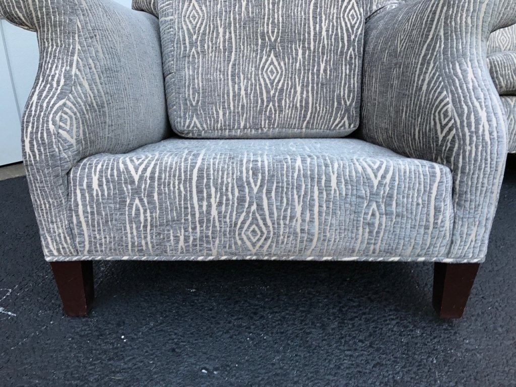 Pair Mid Century Upholstered Lounge Armchairs - 4