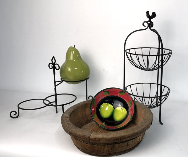 Group Lot Multi-Tiered Wrought Iron Stands