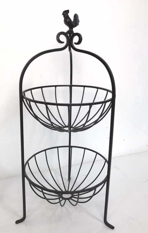 Group Lot Multi-Tiered Wrought Iron Stands - 4