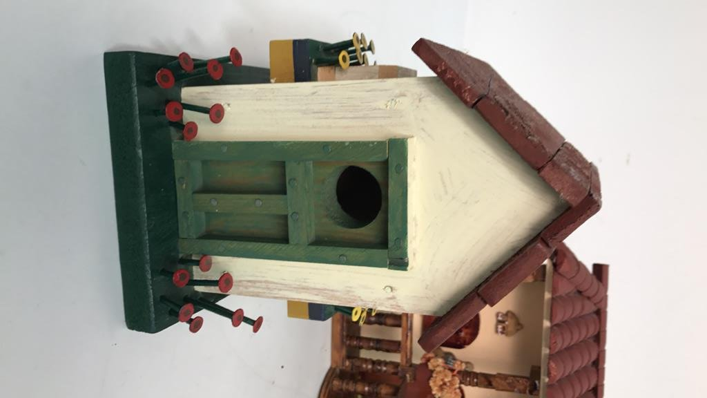 Folk Art Birdhouse Homestead Style Decor - 2