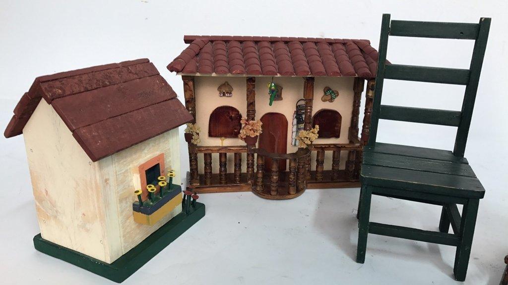 Folk Art Birdhouse Homestead Style Decor - 4