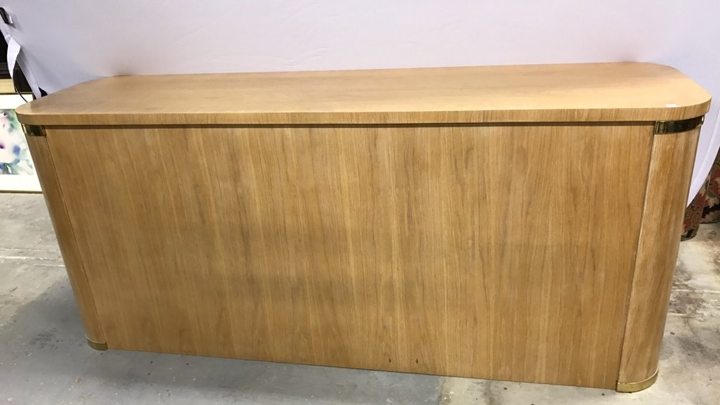 Pickled Oak Art Deco Style Console Cabinet - 10