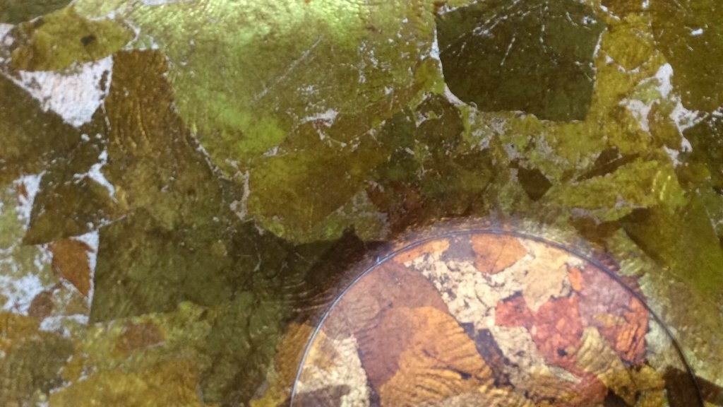 Art Glass Gold Leafed  & Copper Leafed Bowl - 5