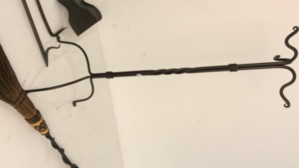 Black Iron Twist Fireplace Accessories - 2