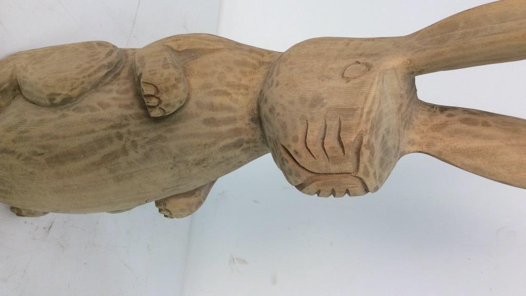 C.B. Carved Folk Art Rabbit - 2