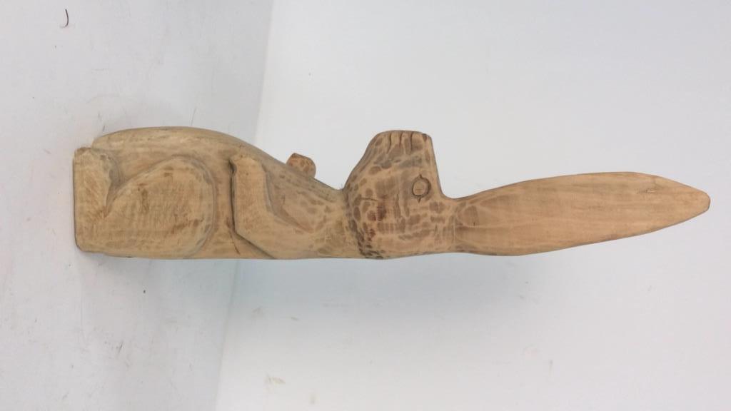 C.B. Carved Folk Art Rabbit - 5