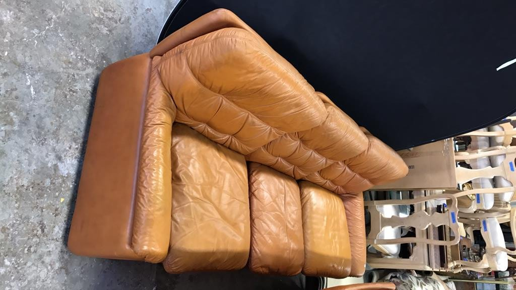 Set Upholstered Sofa & Club Chairs - 4
