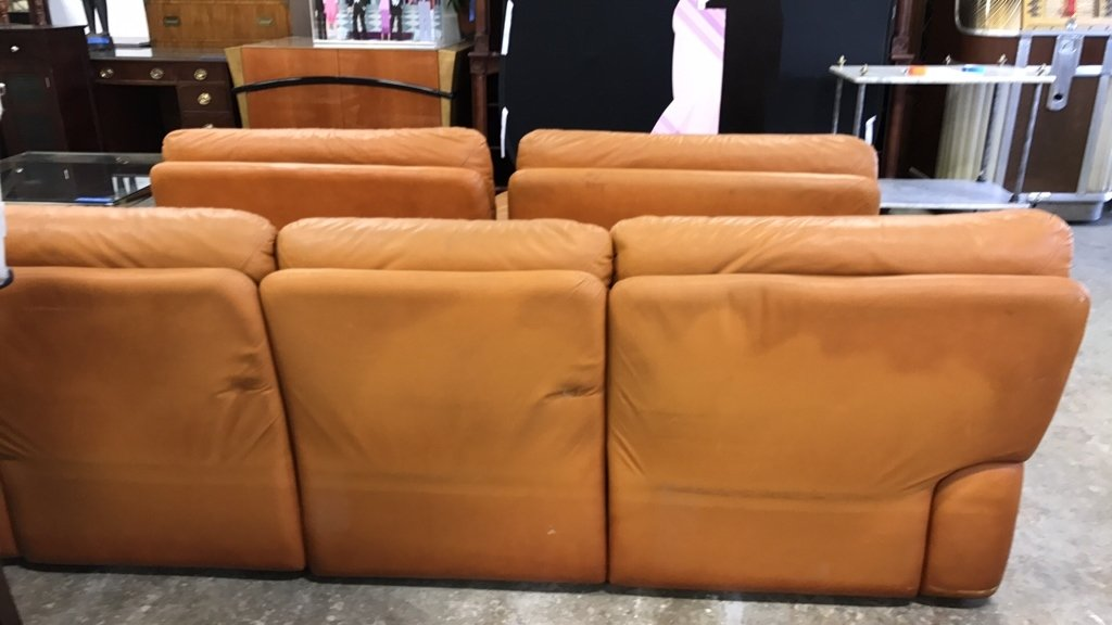 Set Upholstered Sofa & Club Chairs - 7