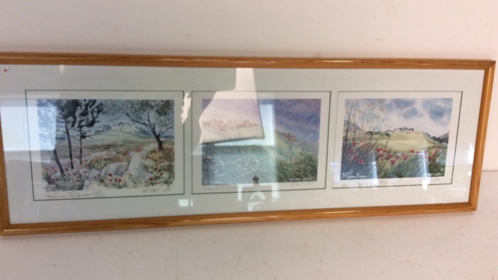 Framed Set Isreali Scenic Lithographs R Spiers