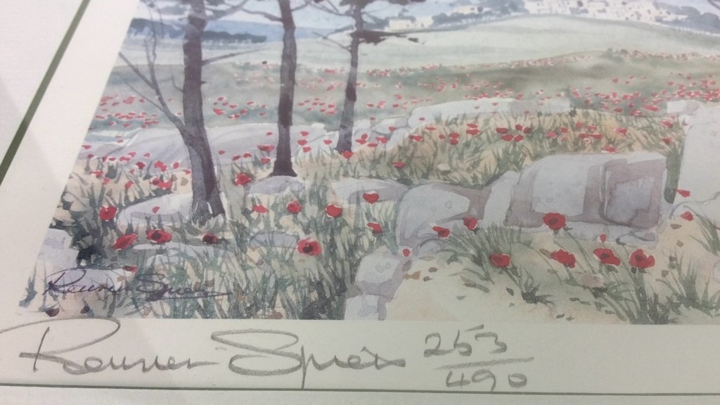 Framed Set Isreali Scenic Lithographs R Spiers - 9