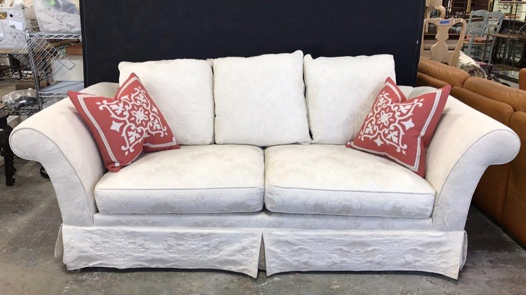 BAUHAUS Upholstered Scroll Arm Sofa Pair Throw