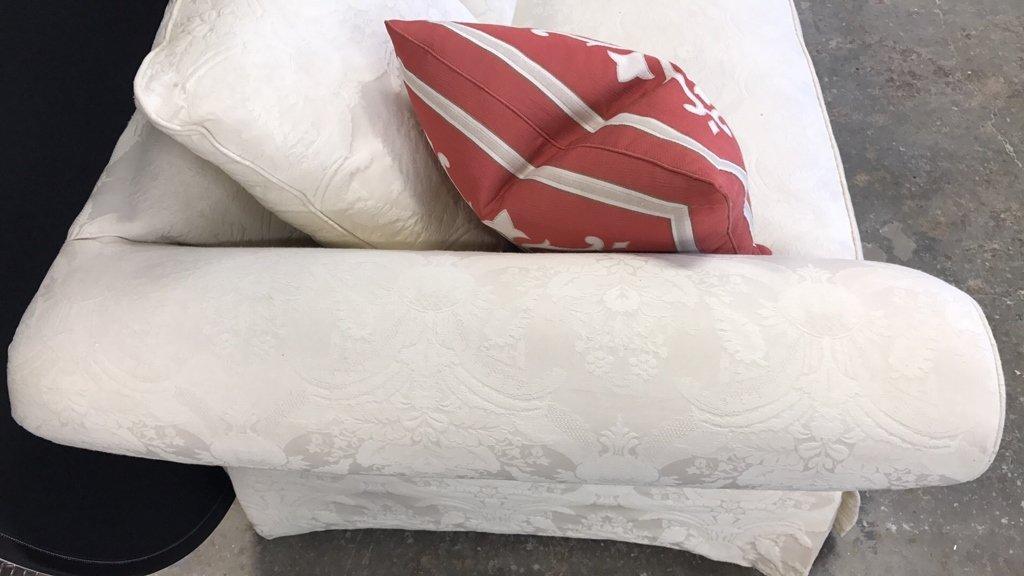 BAUHAUS Upholstered Scroll Arm Sofa Pair Throw - 2