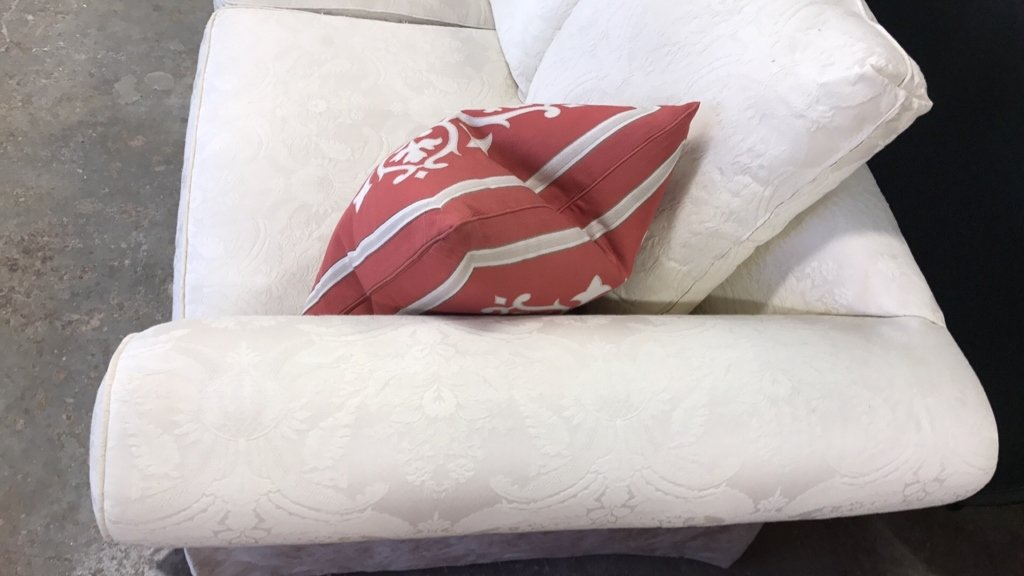 BAUHAUS Upholstered Scroll Arm Sofa Pair Throw - 3