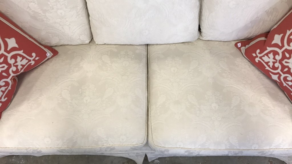 BAUHAUS Upholstered Scroll Arm Sofa Pair Throw - 4