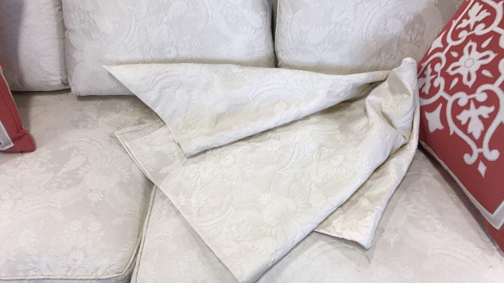 BAUHAUS Upholstered Scroll Arm Sofa Pair Throw - 9